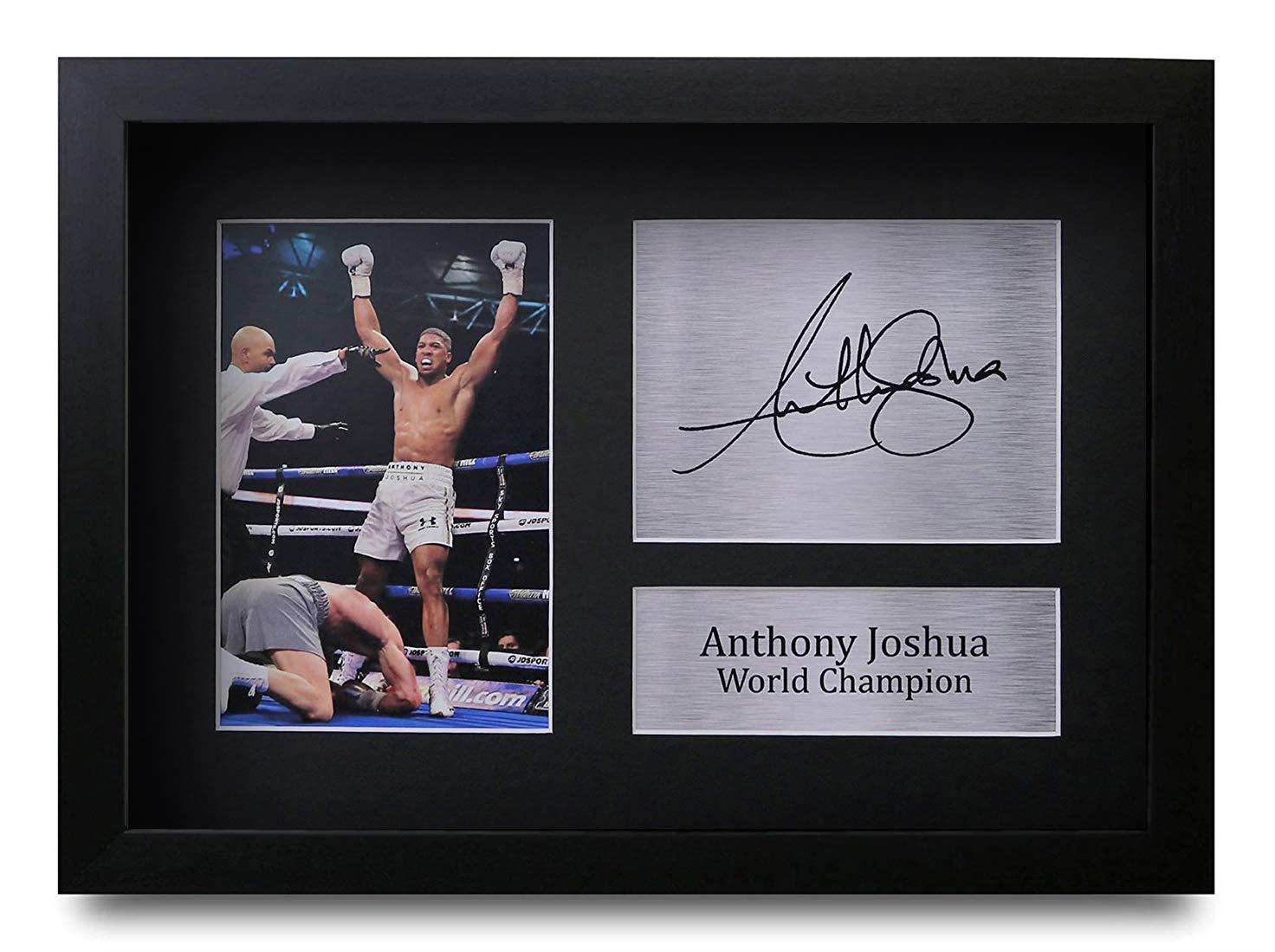 HWC Trading Anthony Joshua A4 Encadr/é Sign/é Image Autographe Imprim/é Impression Photo Cadeau DAffichage pour Les Amateurs De Boxe