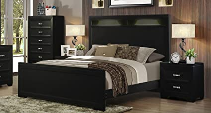 Amazoncom Soflex Ophelia Black Tall Headboard Bedroom Set 2 Pcs