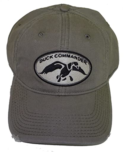 fdb6428a51a Image Unavailable. Image not available for. Color  DUCK COMMANDER Olive  Logo Distressed Cap