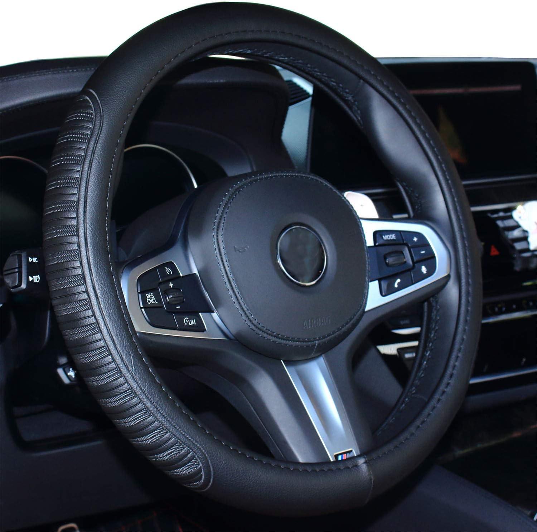 Beige Coole Auto Lenkradabdeckung Komfort Haltbarkeit Sicherheit f/ür M/änner Frauen M/ädchen Dame