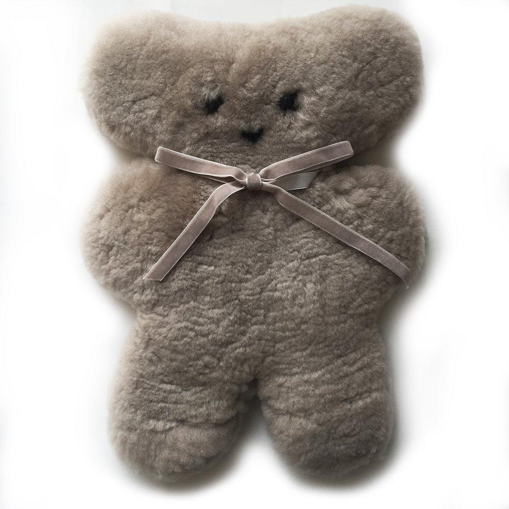 100% Australian Sheepskin Teddy Bear and New Cuddle Bear in Buttermilk BOTOHOSSD