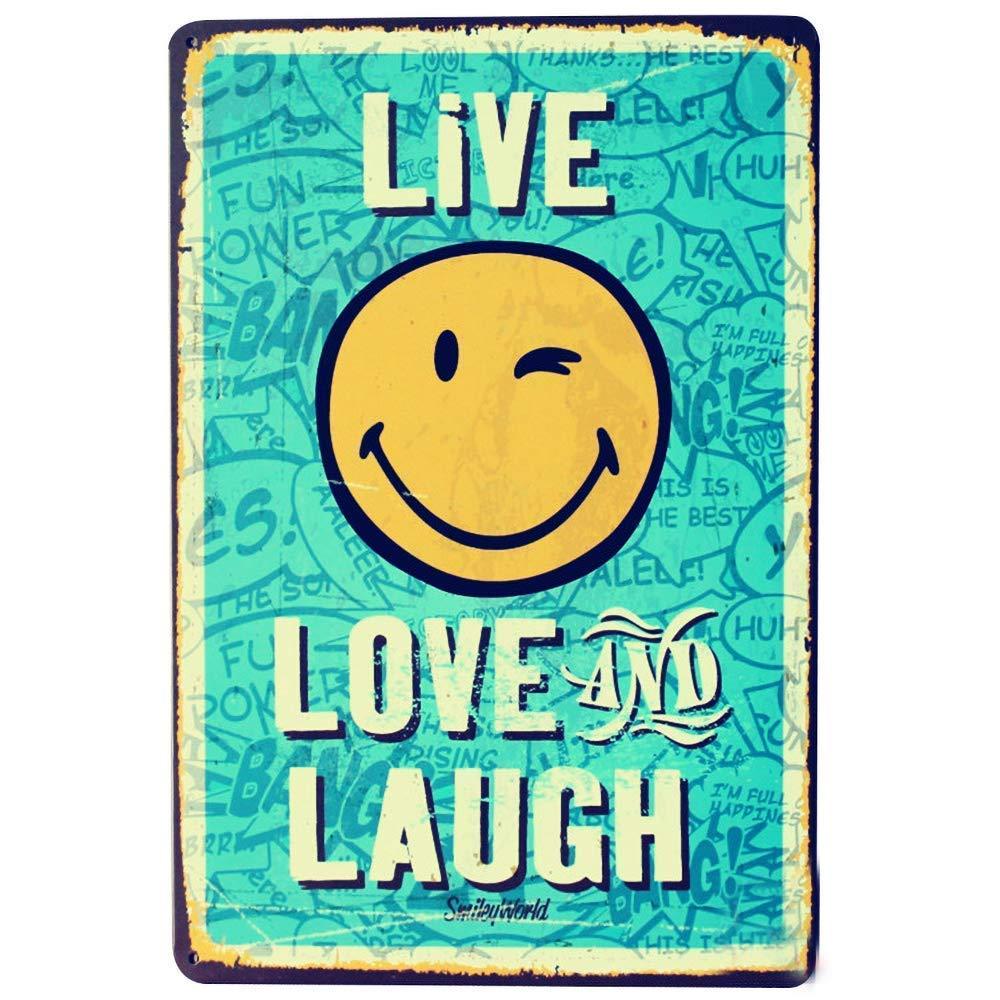 Toddrick Live - Cartel de hojalata con Texto en inglés Love ...