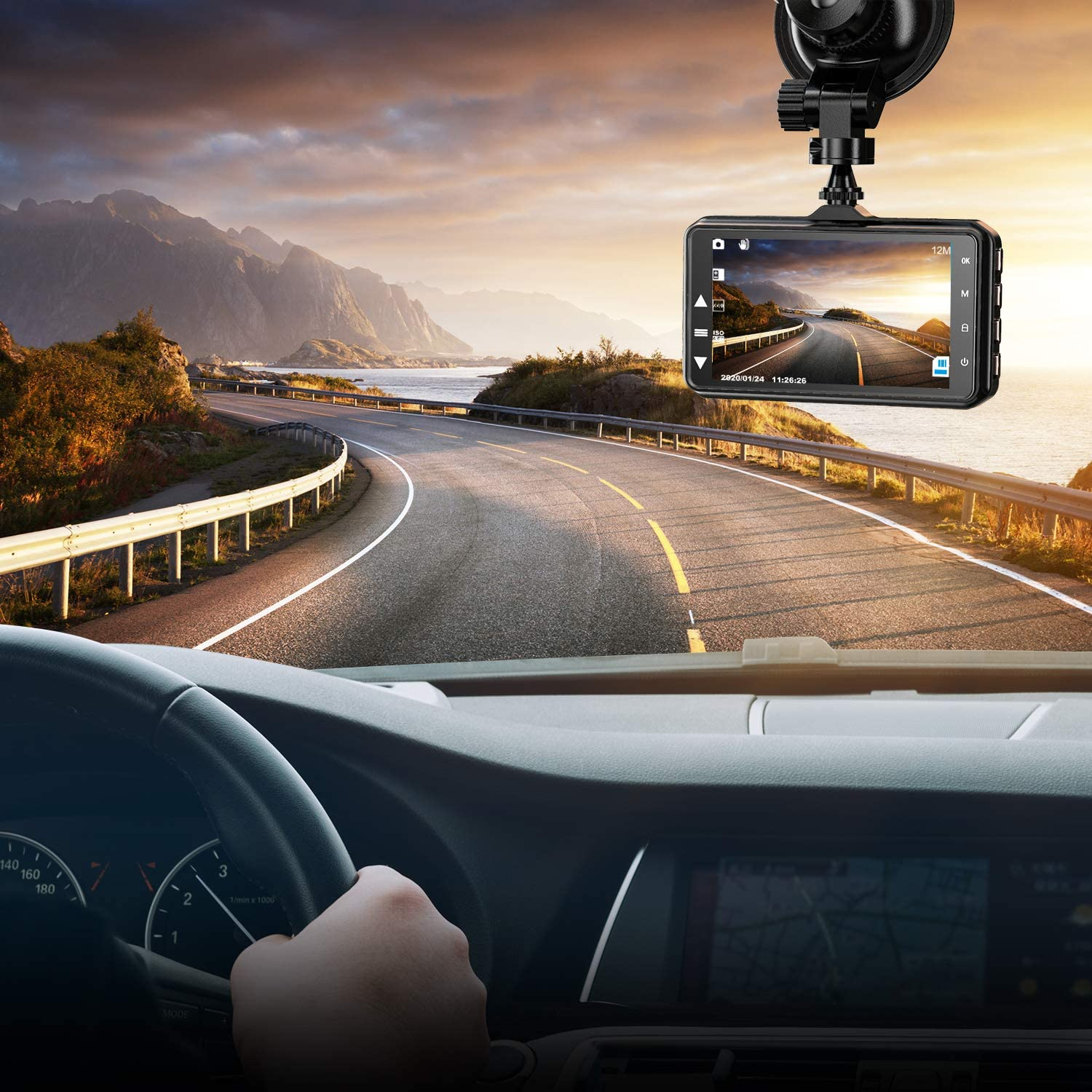 Dash Cam Black Suction Mount Car Camera Suction Cup Dash Camera Car Mount Dash Cam Mount Tightly Fixed Heat Resistant.