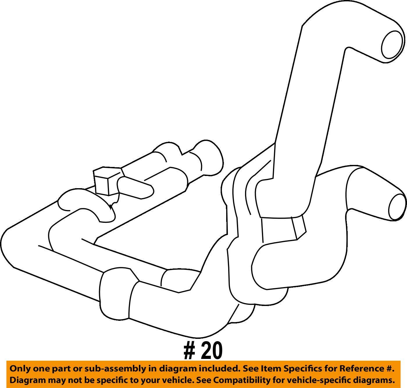 Porsche OEM 15-17 Cayenne 3.0L-V6-Cooling Pipe 95810627001 by Porsche (Image #2)