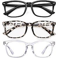 Amzuia 3 Pairs Blue Light Blocking Glasses,Anti Blue Ray Computer Screen Glasses,Anti Glare Reduce Eyestrain Eyeglasses…