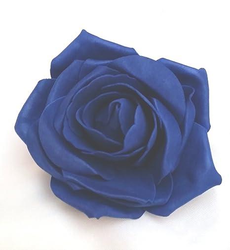 Royal Blue Open Rose Artificial Hair Flower Clip Buttonhole Corsage by Fabulous Fascinators 5uwrAa