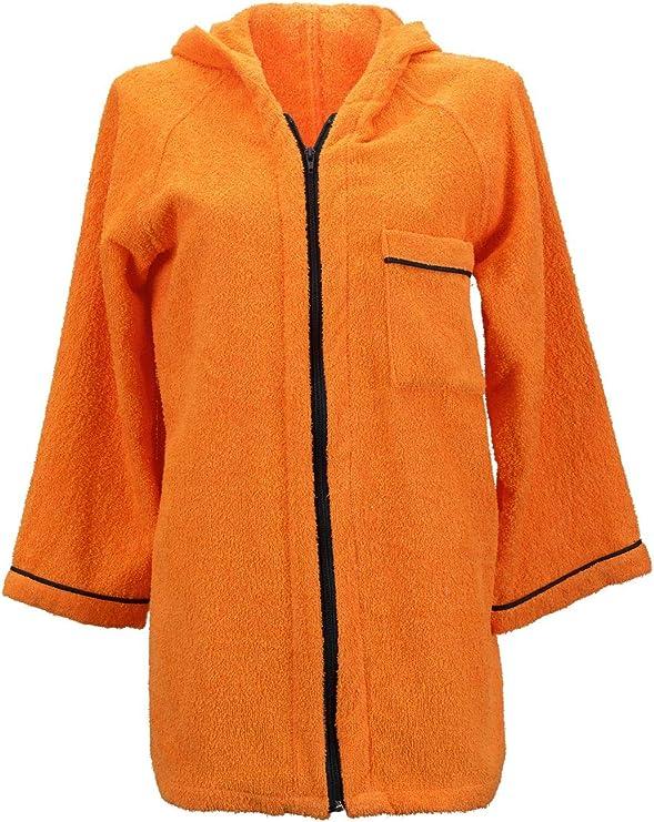 Lady Bella lencería albornoz para mujer con capucha de rizo de ...