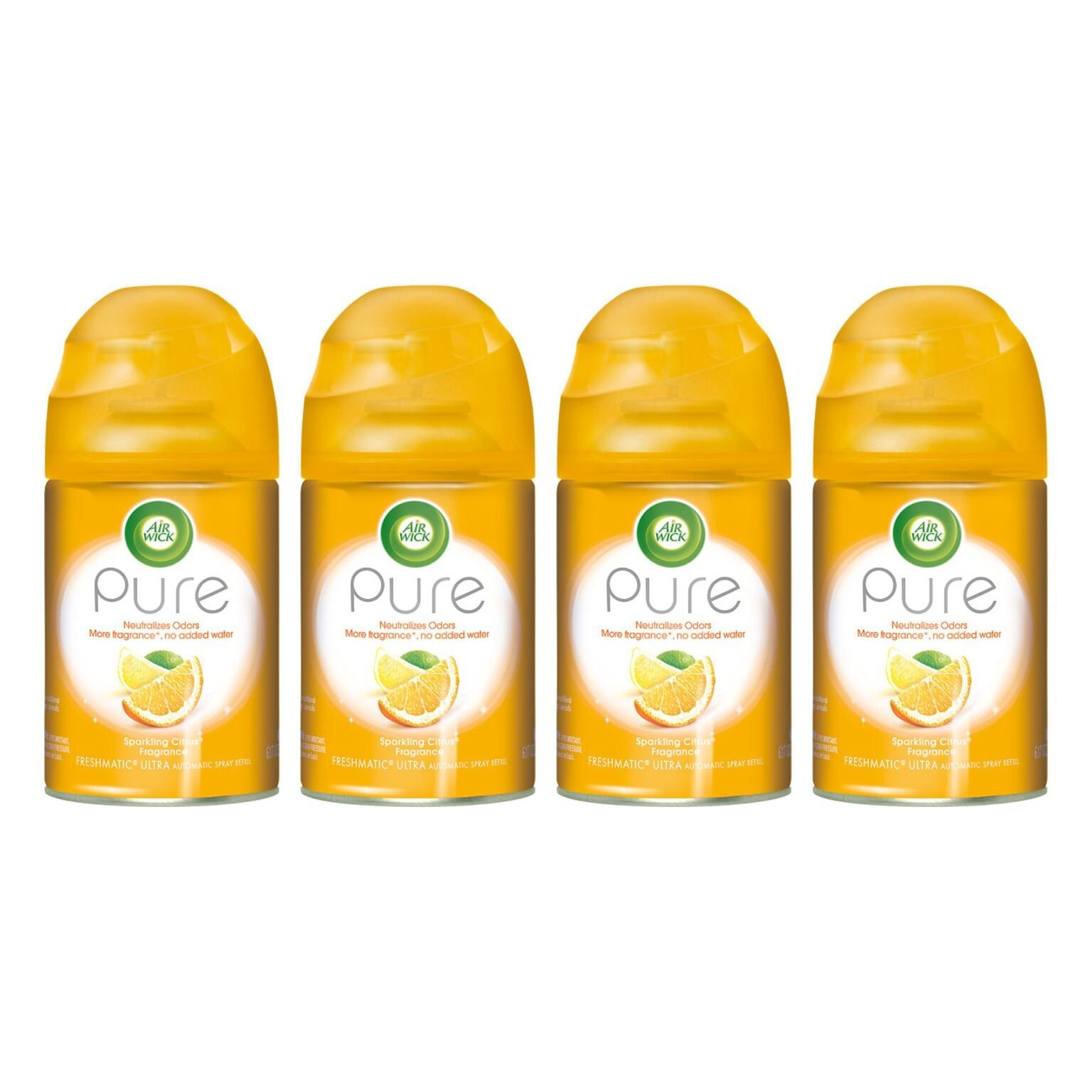 Air Wick - Pure Freshmatic Refill Automatic Spray, Sparkling Citrus, 6.17oz, Air Freshener (Pack of 4) by Air Wick (Image #1)
