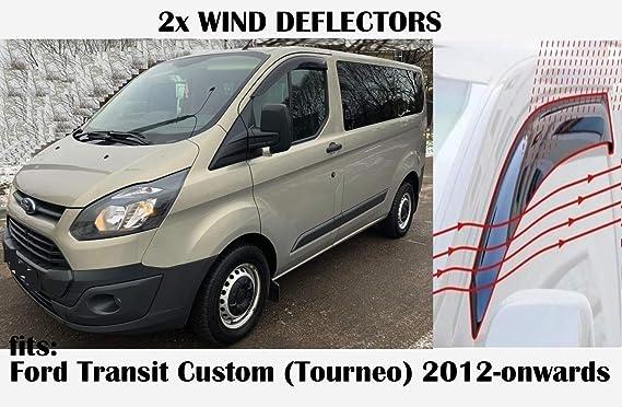 Tipo de Canal Compatible con deflectores de Ventana Volkswagen Caddy 2015 2016 2017 2018 2019 2020 acr/ílico Vidrio Mrp Juego de 2 deflectores de Viento