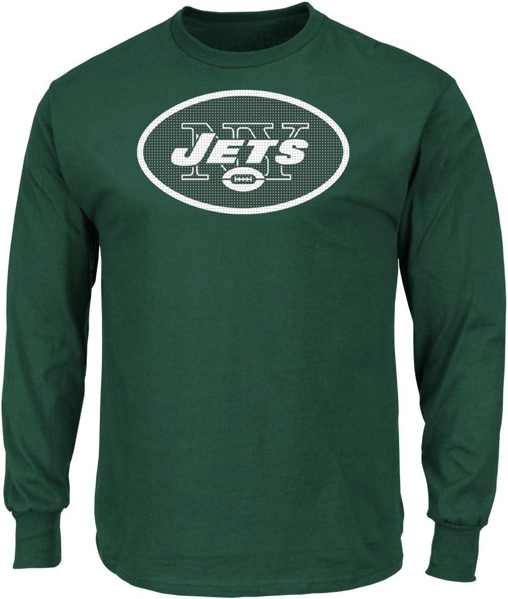 New York Jets大人用グリーンCritical Victory 2マジェスティック長袖Tシャツ  Large