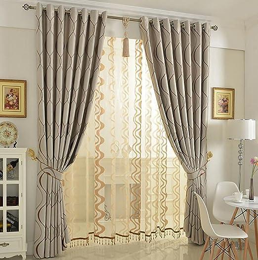 LIANGLAOI Gardinen für Wohnzimmer, Modern Einfachheit Blickdicht  Verdunklungsgardine Vorhang für Schlafzimmer Wohnzimmer 1 Piece-A ...