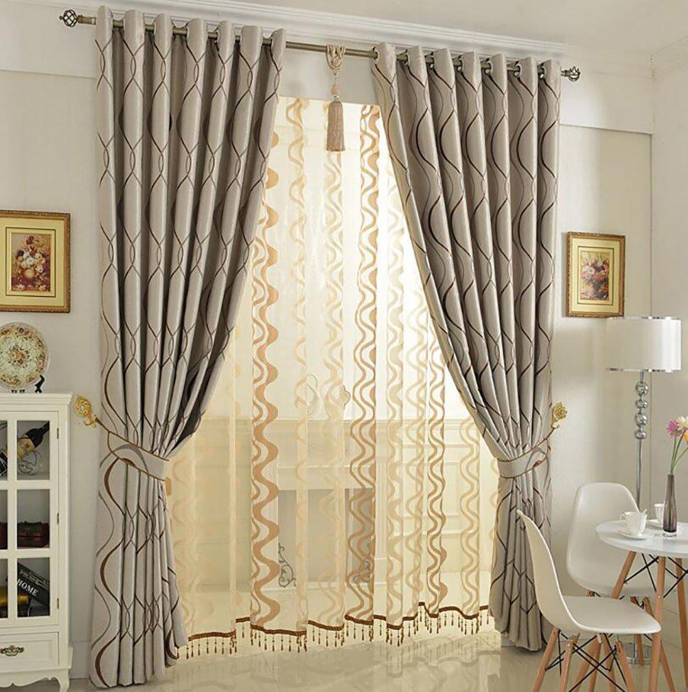 LIANGLAOI Gardinen für Wohnzimmer, Modern Einfachheit Blickdicht Verdunklungsgardine Vorhang für Schlafzimmer Wohnzimmer 1 Piece-A 300x270cm(118x106inch)