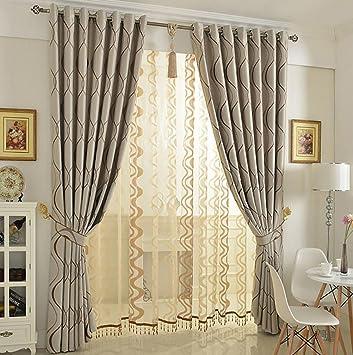 Gardinen für Wohnzimmer, Modern Einfachheit Blickdicht Verdunklungsgardine  Vorhang für Schlafzimmer Wohnzimmer 1 piece-A 160x270cm(63x106inch)