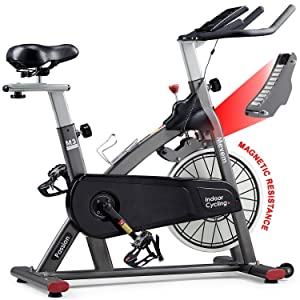 MEVEM Indoor Cycling Bike-Belt Drive Indoor Magnetic Exercise Bike,Stationary Cycle Bike for Home Cardio Gym Workout