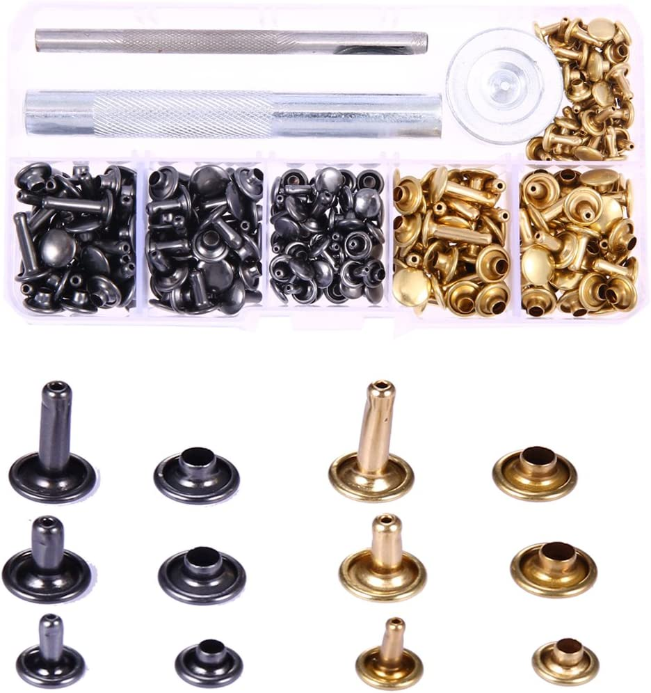 Gunmetal Rivets for Leather 100ct 8mm Small Bronze Cap Rivet Studs Fast Shipping from USA!
