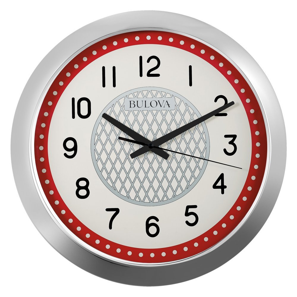 Bulova Juke Box Wall Clock, Silver