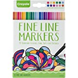 Crayola Aged Up Adult Coloring 12ct Fine Line Markers, Contemporary Colors