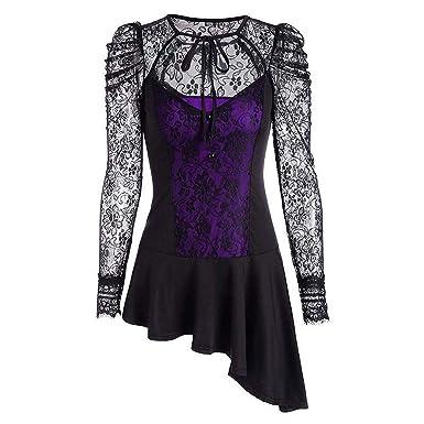 d1614224fdf Sexy Gothic Punk Dress Robe Vintage Black Lace up Vestidos Lady Elegant  Irregular Dress Cosplay