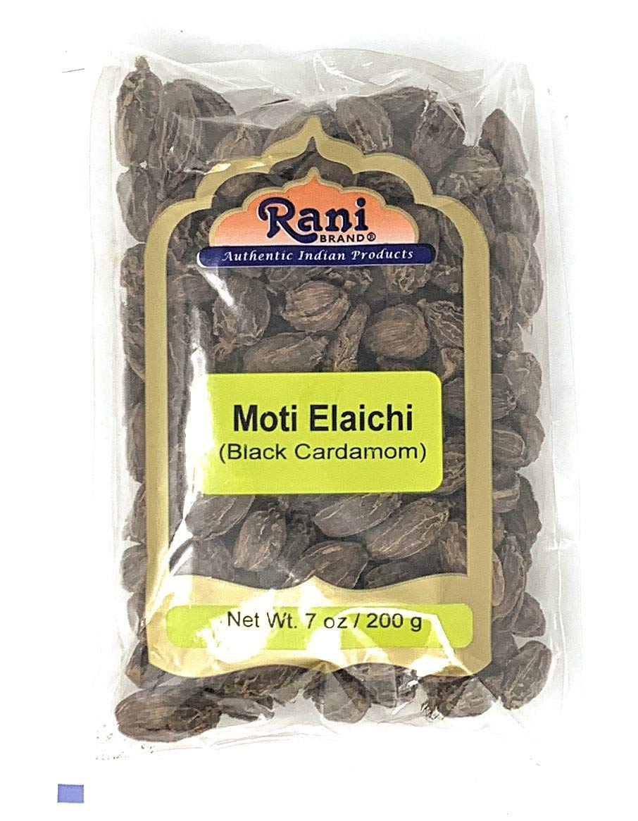 Rani Black Cardamom Pods (Kali Elachi) Whole Dried Indian Spice 7oz (200g) ~ Natural   Vegan   Gluten Friendly   Non-GMO   Indian Origin ~ Smokey   Tsaoko   Cao Guo   Bach Dan Khau   Badi