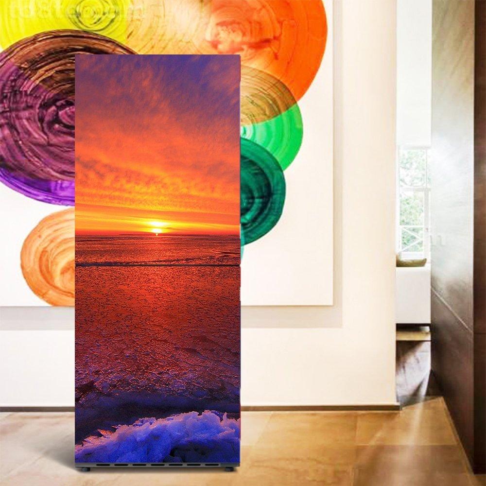 yazi Household Fridge Freezer Stickers Waterproof Self Adhesive Wallpaper 60x150cm Sunfire2016 003316