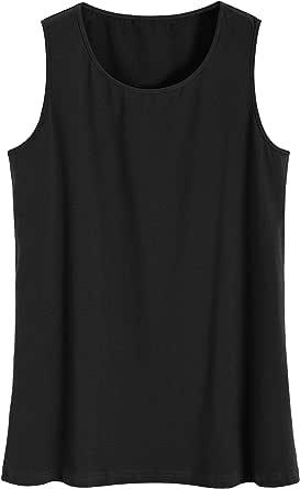 Latuza Women's Plus Size Loose Tank Top Sleeveless Jersey Top