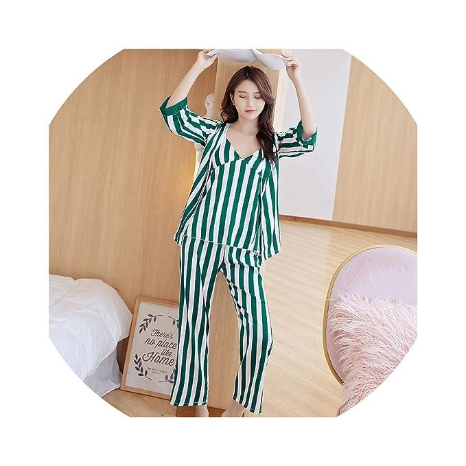 Amazon.com: Pijama Pijama - Pijama sexy de seda para mujer ...