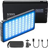 RGB LED Video Lights,On-Camera Lighting Mini Pocket Light for Vlog YouTube Videos with(RGB,2500K-8500K,0-1530°,4000mah,OLED D