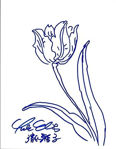 yuko shimizu signed autographed hand drawn sketch creator of hello