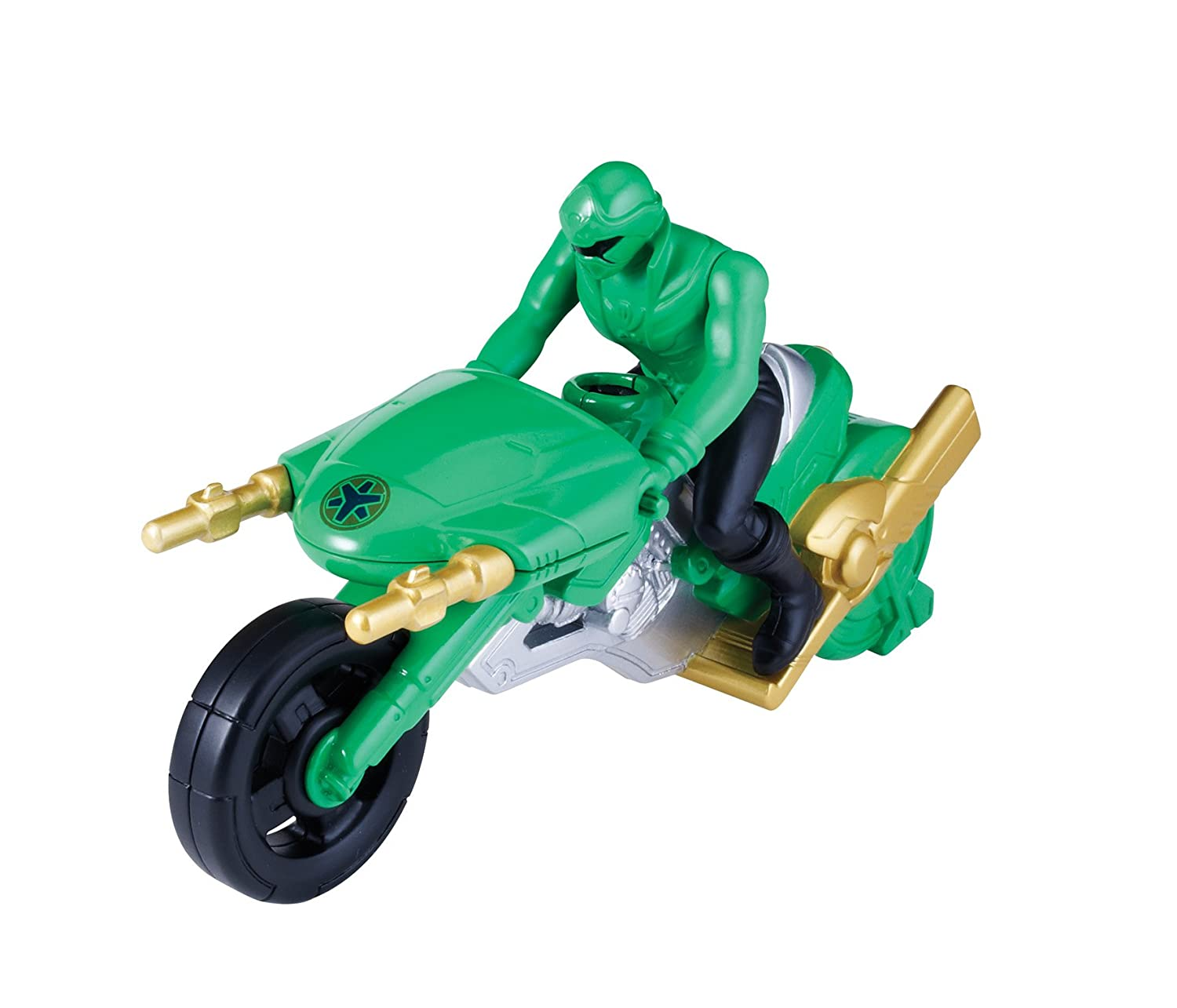 Power Rangers Súper Megaforce - Moto de ataque, color verde (Bandai ...
