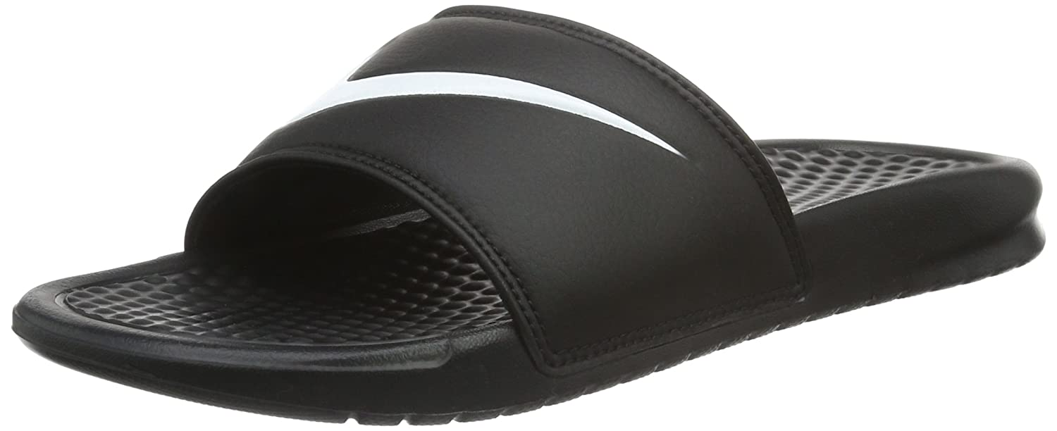 5d719fd9c9b6 Nike Unisex Benassi Swoosh Black White Slide Sandals Shoes Sz   5-Men 6-Women  Buy Online at Low Prices in India - Amazon.in