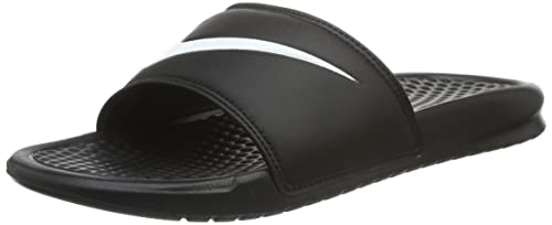 90323f56524c0a Nike Unisex Benassi Swoosh Black White Slide Sandals Shoes Sz  5-Men 6-Women   Buy Online at Low Prices in India - Amazon.in