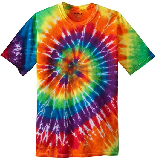 60s Costumes: Hippie, Go Go Dancer, Flower Child, Mod Style Koloa Surf Co. Colorful Tie-Dye T-Shirts in 17 Colors. Sizes: S-4XL $20.95 AT vintagedancer.com