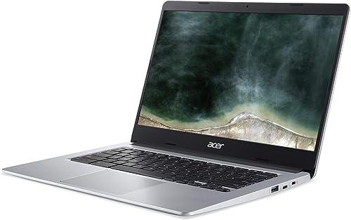 Acer Chromebook 314 14 Zoll Full HD matt 19 7mm flach extrem lange Akkulaufzeit schnelles WLAN MicroSD Slot Google Chrome OS Silber