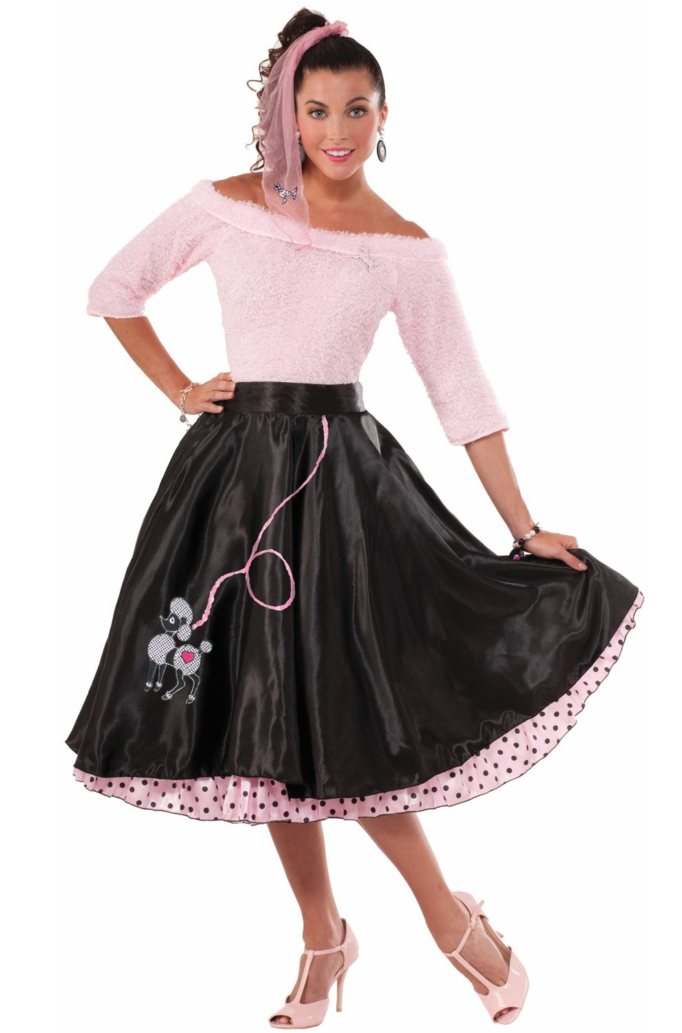Forum Novelties Women's 50's Poodle Skirt Black, Black, Standard