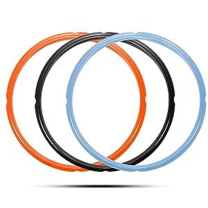 8 Qt Sealing Ring Compatible with Instant Pot 8 Quart Model, Fits Duo 8 Quart, Lux 8 Quart, Duo Plus 8 Quart, Ultra 8 Quart, Viva 8 Quart, 3-Pack