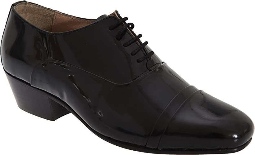 Montecatini Herren Leder Schnürschuhe mit Lack Beschichtung