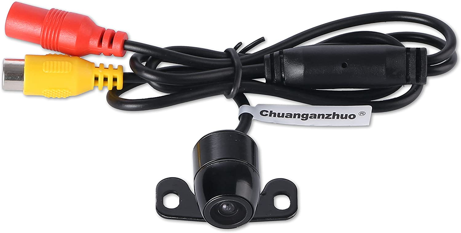 Car Front View Camera,Chuanganzhuo Universal High definition CMOS Non-mirror Image Waterproof Front View Camera,Without Distance Scale Line,16.5mm,Black