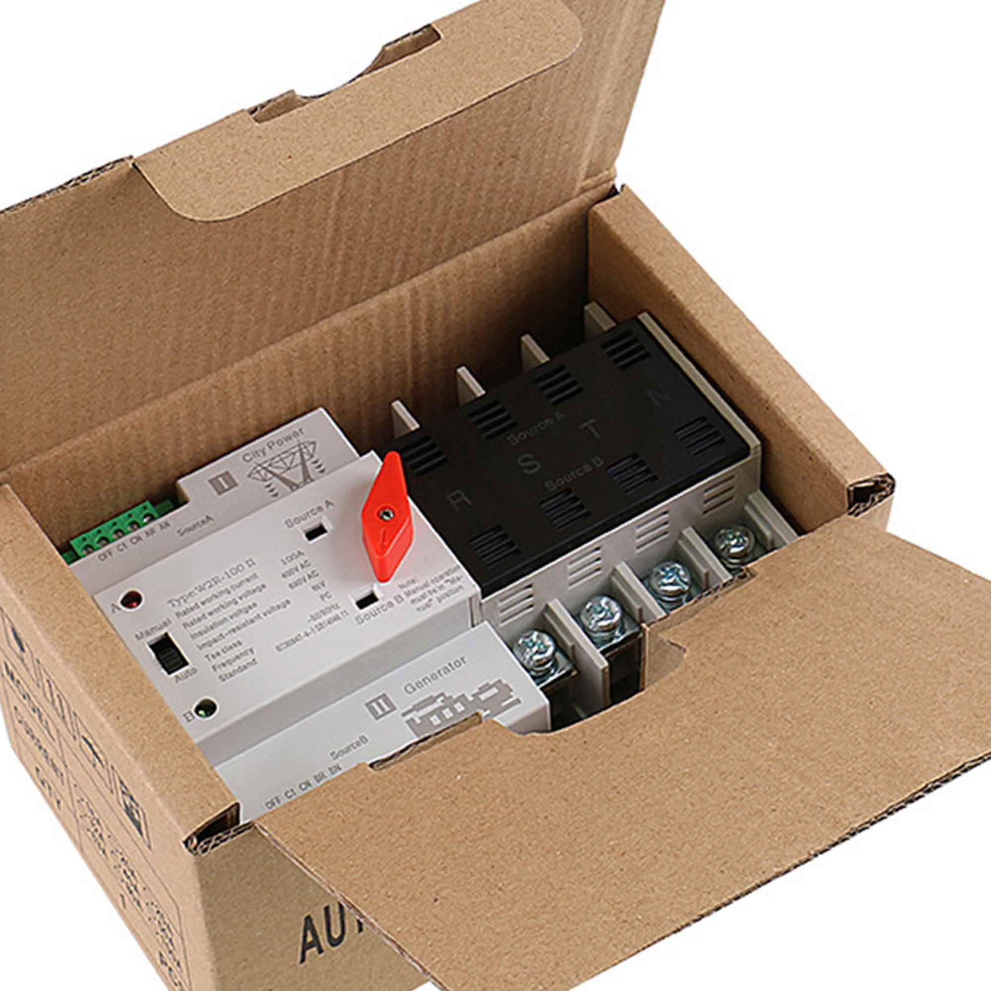 GAEYAELE W2R Mini ATS 4P Automatic Transfer Switch Controller Electrical Type ATS Max 100A 4POLE (W2R-4P 100A) by GAEYAELE (Image #6)
