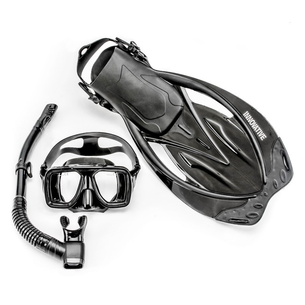 Innovative Scuba Concepts MSF4612 REEF, Adult Snorkel Set, Mask, Fins, Snorkel and Bag by Innovative Scuba Concepts