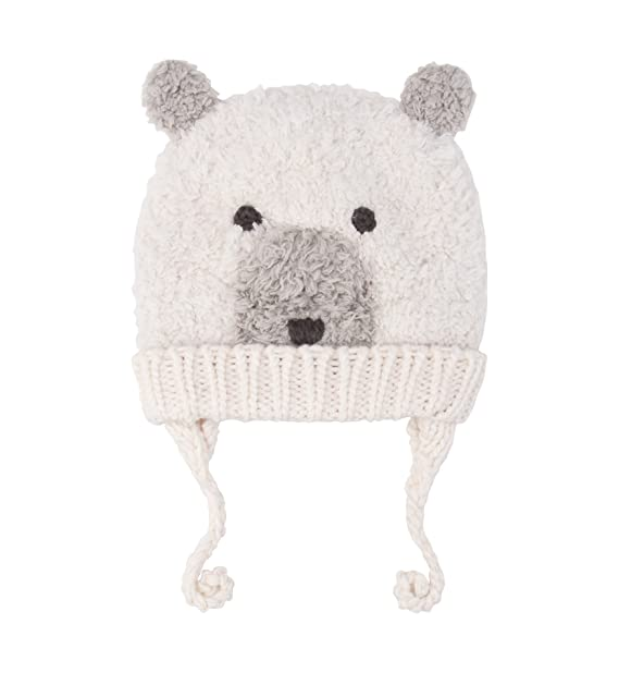 819324db71d SUMOLUX Baby Toddler Warm Earflap Beanies Hat Knitted Polar bear Animal  Ears Hats Lined Beanie Fluffy