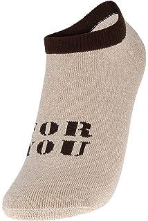 8c18e0c3fdb7d Eozy 2 Paires Femme Homme Mixte Chaussettes Imprimé For You Socquette Sport  Sock