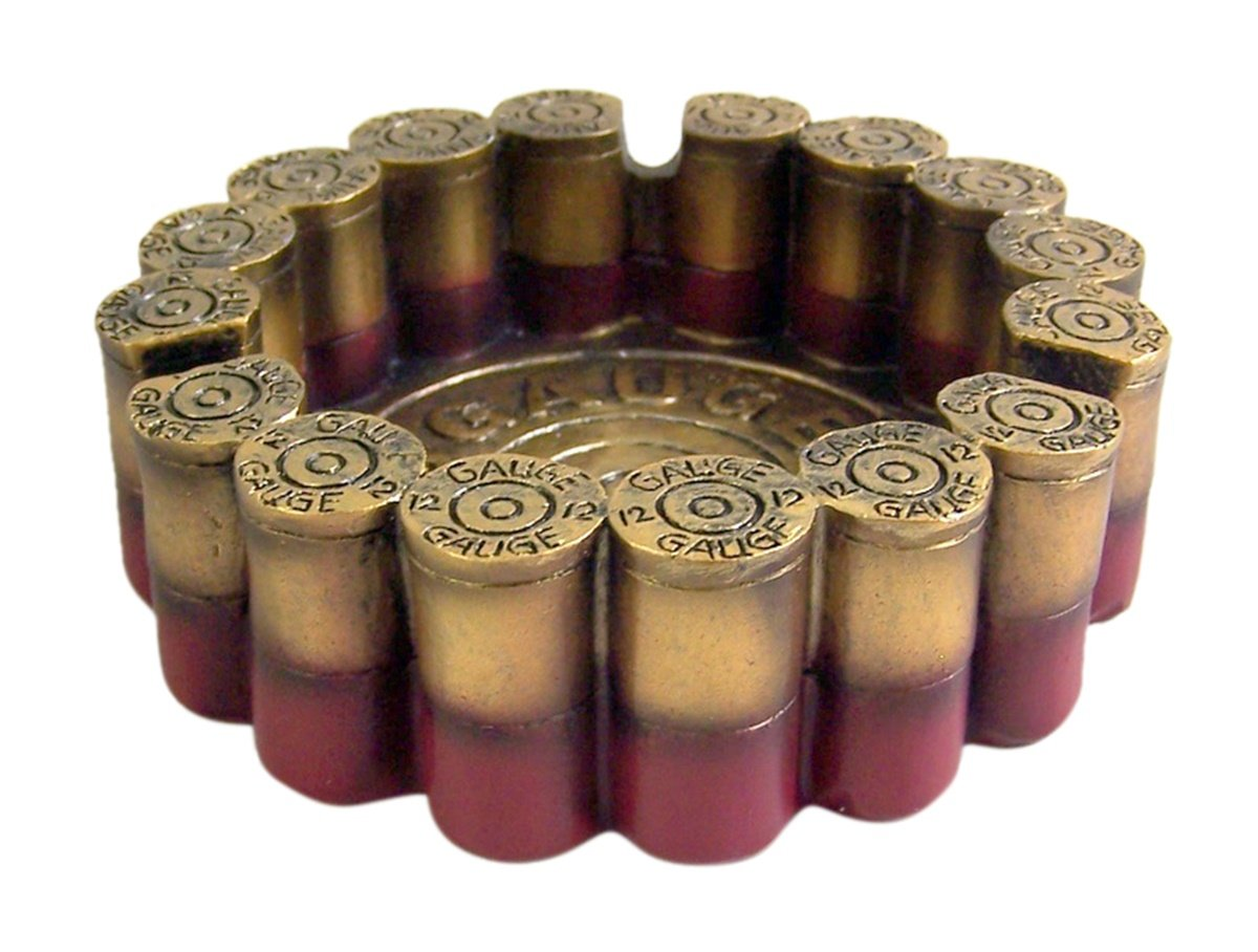 12 Gauge Shotgun Shell Round Ashtray 4.5'' Diameter