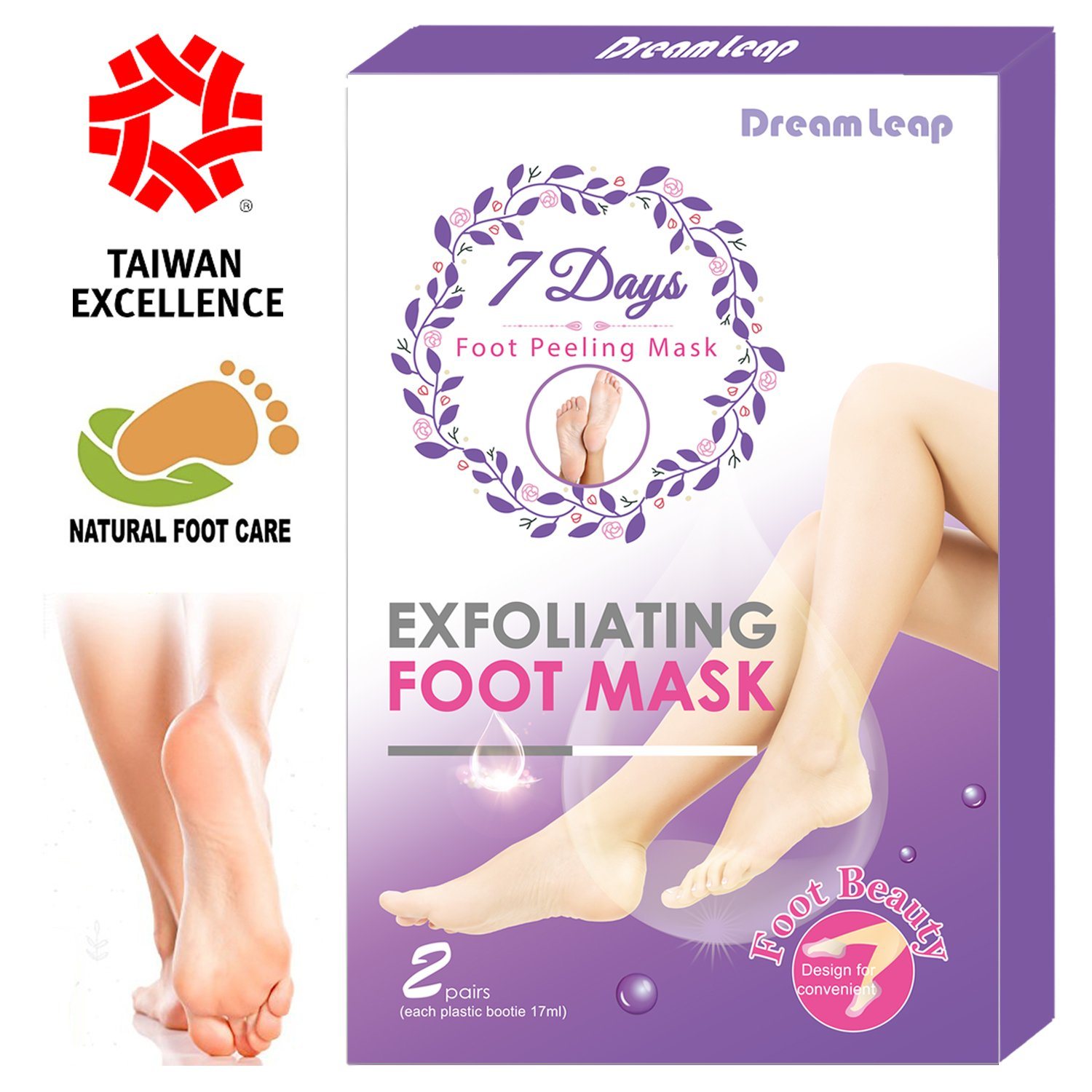 Exfoliating Peel Foot Mask - Callus Removal Foot Mask Pack - 7 Days Get Soft Foot - Natural Foot Mask - Deep Exfoliation for Feet - Foot Peeling off for Dry and Dead Skin (2 Pairs)