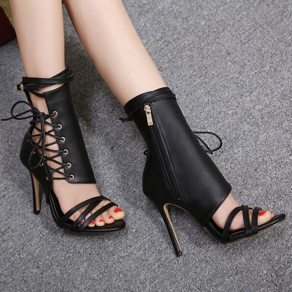 ZYQME Frauen Roman Schuhe Schuhe Schuhe Sexy Knöchelriemen Gladiator Sandalen Kleid Stiletto High Heels Damen Peep Toe Schuhe Club Hochzeit Strappy Pumps 0f86d4