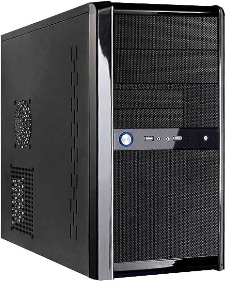 CiT Templar Micro ATX Interior Mesh - Carcasa de PC (Fuente de alimentación de 500 W, Ventilador de 12 cm), Color Negro: Amazon.es: Informática