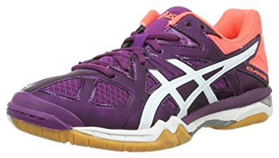 a3e7835103e3 ASICS Women's Gel-Tactic W Volleyball Shoes, Multicolour (Phlox/White/Flash