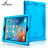 Armera iPad 9.7 Inch 2017 Cover Case With Heavy Duty Kids Safe Extra Corner Silicone Protection and Anti Slip Grip For Apple iPad 9.7 (2017 MARCH Released) Blue