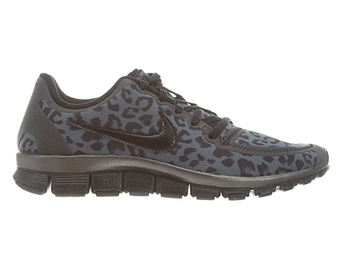 buy popular 8d1ea 04a58 Amazon.com  NIKE Wmns Free 5.0 V4 Leopard - Dark Grey (511281-013) (5 B(M)  US)  Road Running