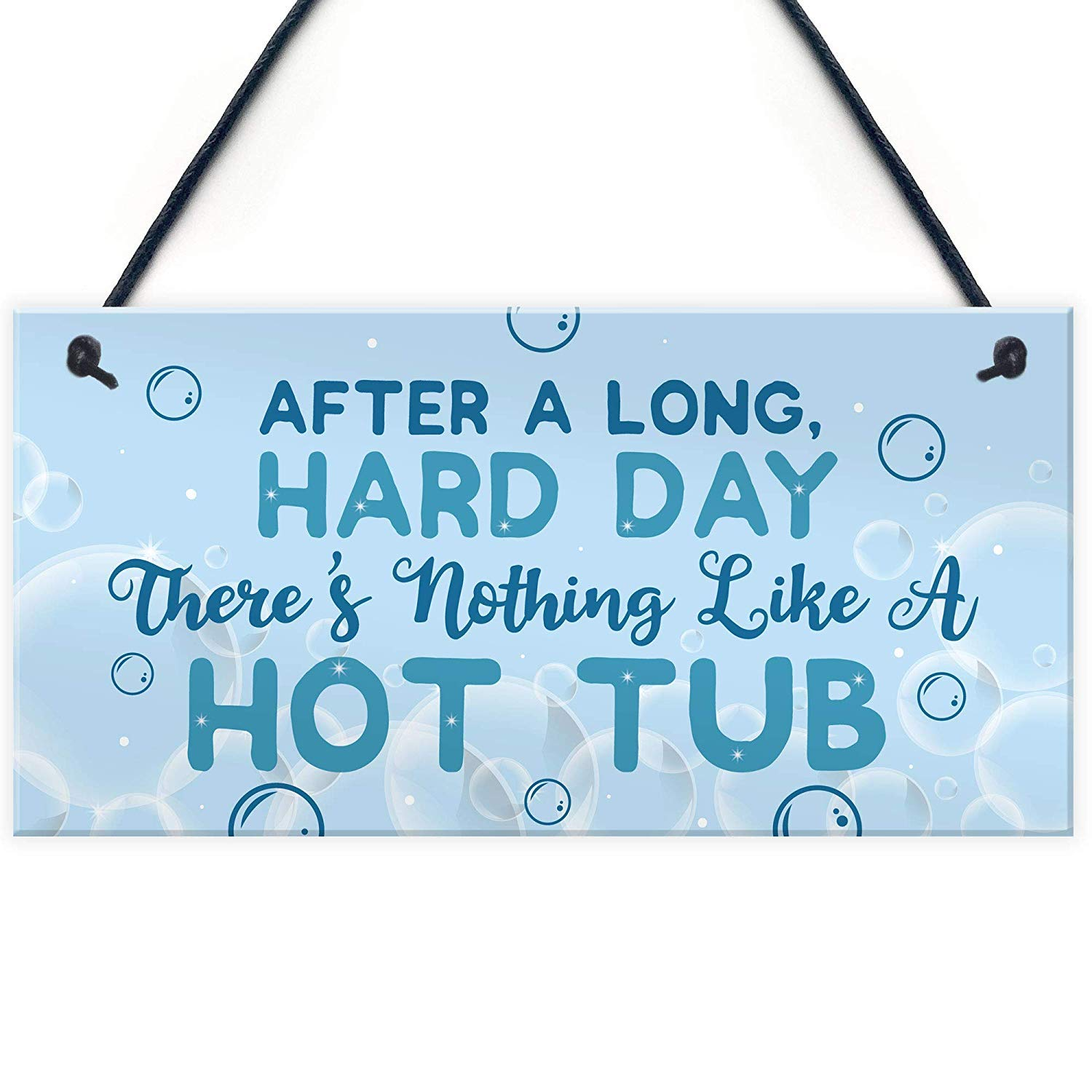 Meijiafei Funny HOT TUB Sign Garden Signs and Plaque Summer House Plaque Pool Jacuzzi Gift 10'' X 5'' by Meijiafei