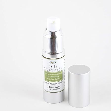 Aster Skincare Anti-Aging Night Eye Serum with Green Tea Rose Hip